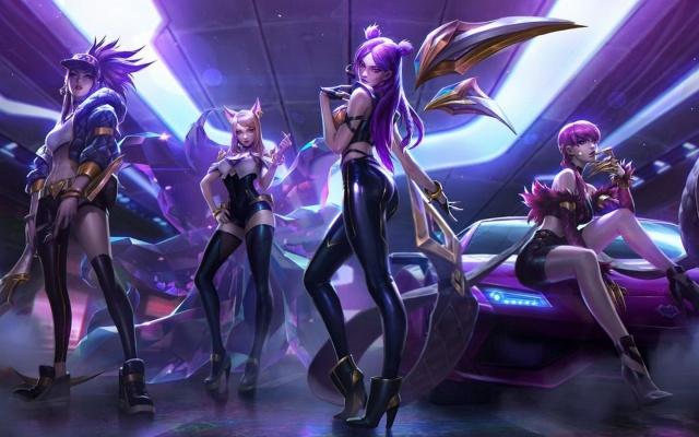 K/DA skiny - originální art od Riot Games