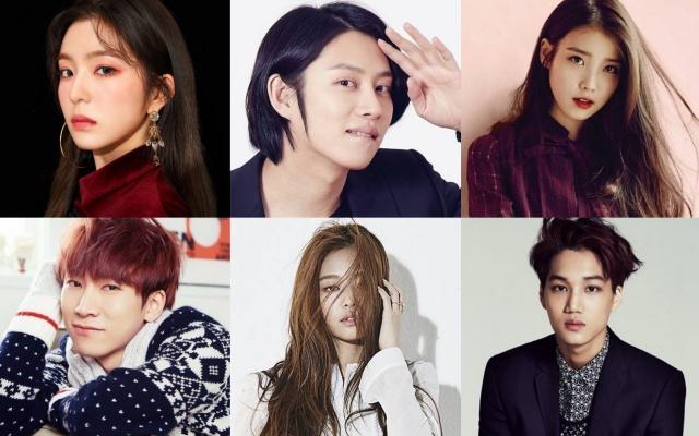 Irene, Heechul, IU, Eunkwang, Jennie, Kai