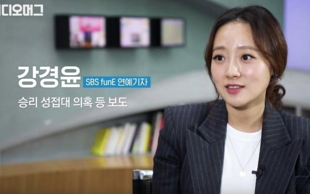 Reportérka Kang Kyung Yoon