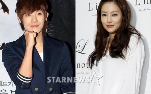 """Lee Joon a jeho """"manželka"""" (Oh Yeon Seo) v pořadu """"We Got Married"""""""