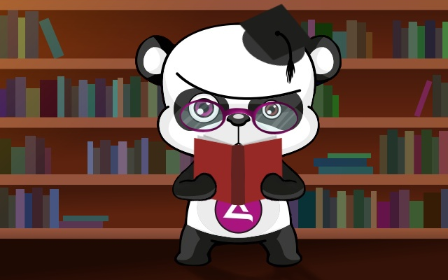 Panda knihomol