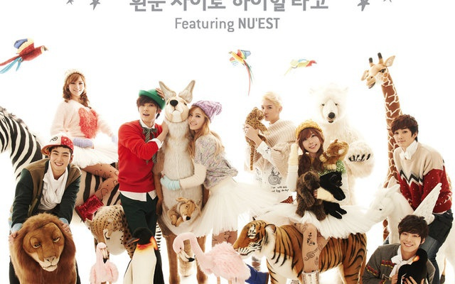 "Orange Caramel a Nu′est v MV ""Dashing Through the Snow in High Heels"""