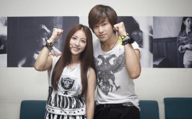 BoA a Yunho ze skupiny TVXQ